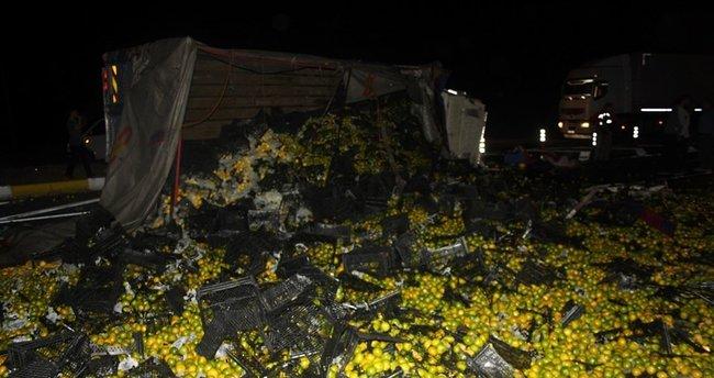 Ankara'da belediye otobüsü ile kamyon çarpıştı