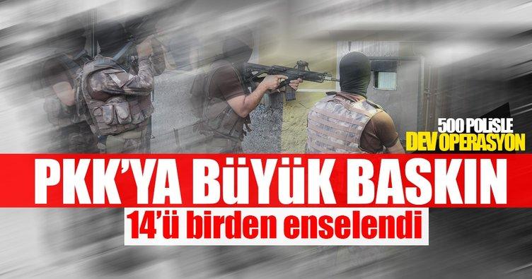 Adana'da PKK operasyonu: 14 gözaltı