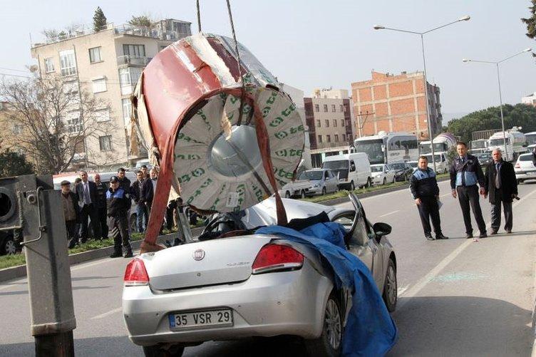 Akhisar'da akılalmaz kaza
