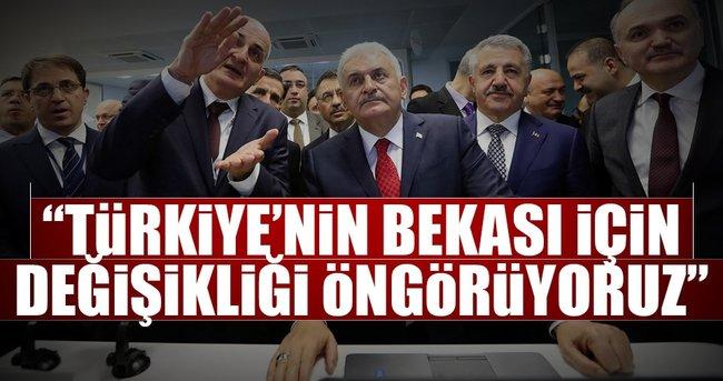 """""""Türkiye'nin bekası için değişikliği öngörüyoruz"""""""