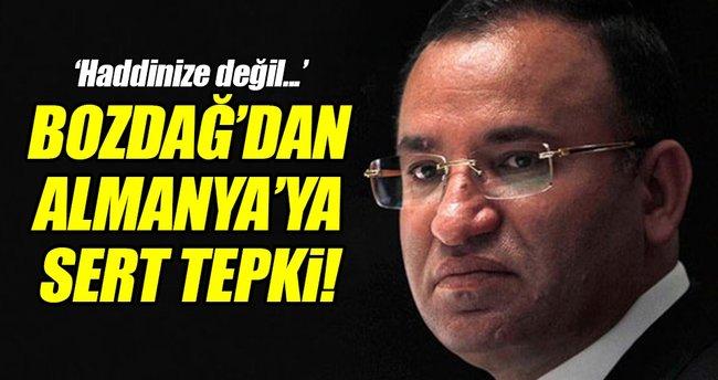 Bakan Bozdağ'dan Almanya'ya HDP tepkisi!