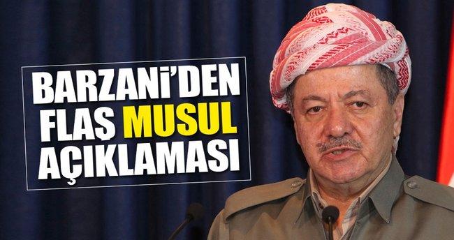 Barzani'den flaş Musul açıklaması