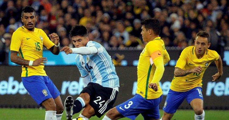 Sampaoli ilk maçında Brezilya'yı devirdi