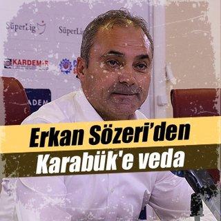 Erkan Sözeri'den Karabük'e veda