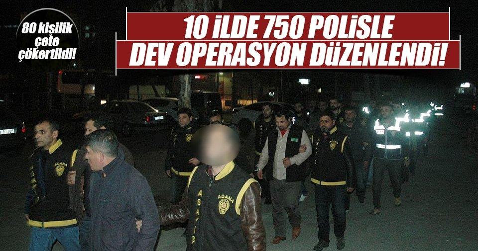 10 ilde sahte polis, savcı ve jandarma operasyonu