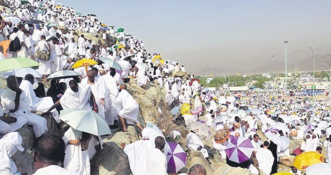 İslam aşkıyla dolu 2 milyon yürek Arafat'ta