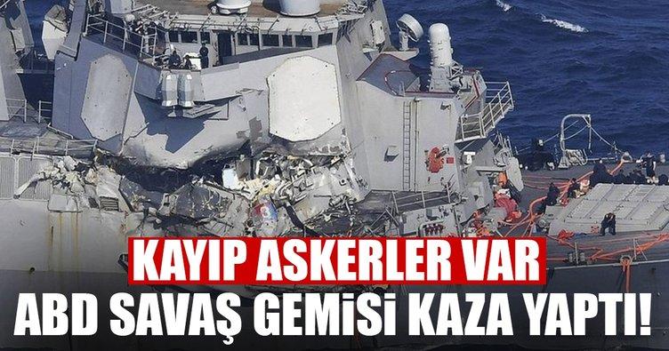 ABD savaş gemisi kaza yaptı! 7 asker kayıp