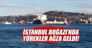 İstanbul Boğazında Panama bandıralı geminin dümeni kilitlendi