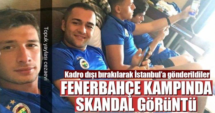 Fenerbahçe kampında skandal görüntü! Sigara...