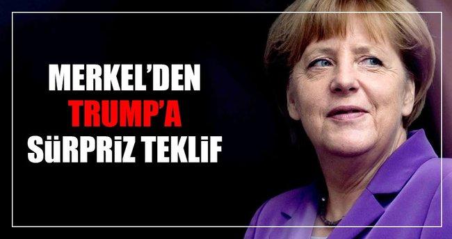 Merkel'den Donald Trump'a sürpriz teklif