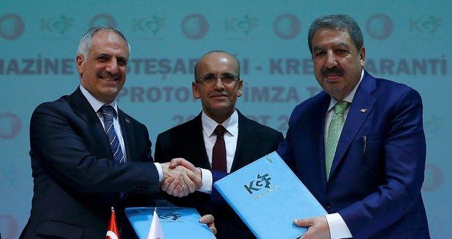 Hazine ile KGF arasında protokol imzalandı
