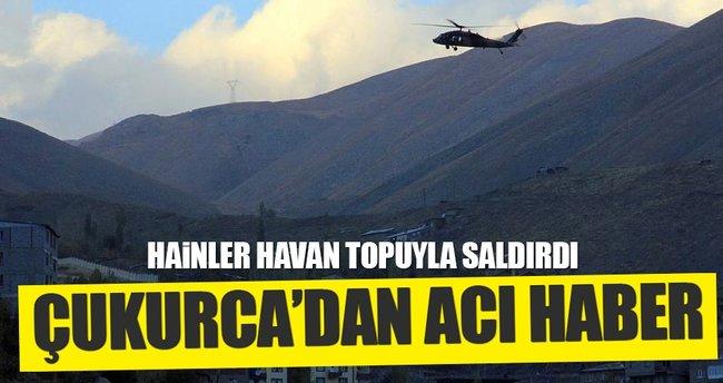 PKK'dan havanlı saldırı: 1 şehit