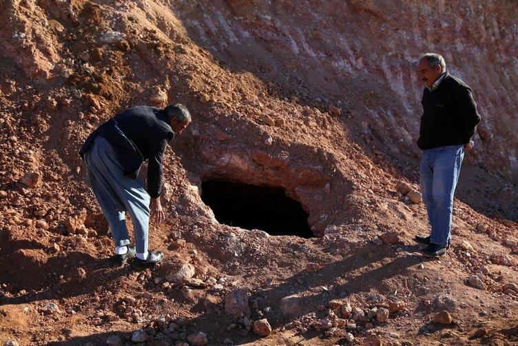 Mağarada kafatası ve kemik bulundu