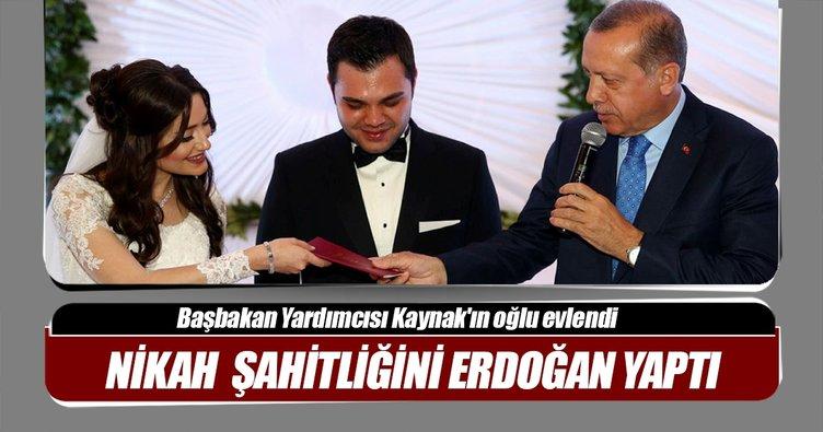 Başbakan Yardımcısı Kaynak'ın oğlu evlendi