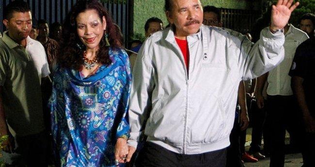 Nikaragua'da Ortega üçüncü kez başkan