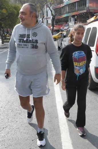 Reha Muhtar kızıyla spor yaptı