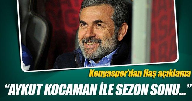 Konyaspor'dan flaş Aykut Kocaman açıklaması!