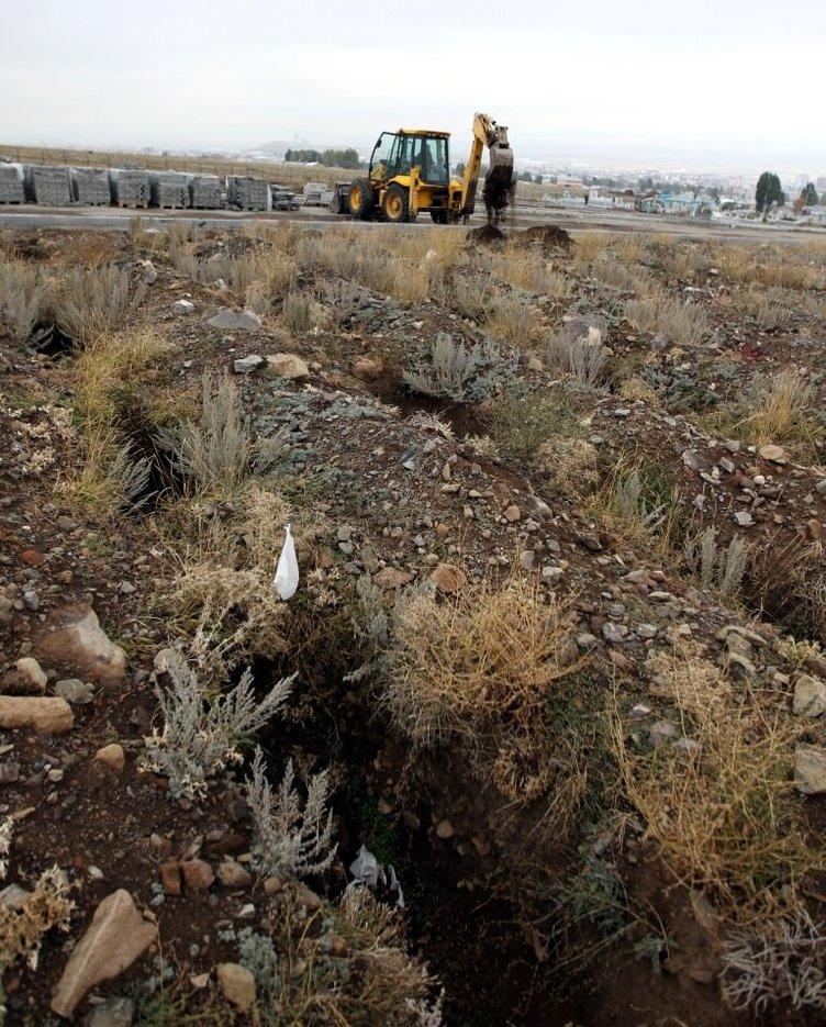 Erzurum'da bin kişilik mezar yeri açtılar.