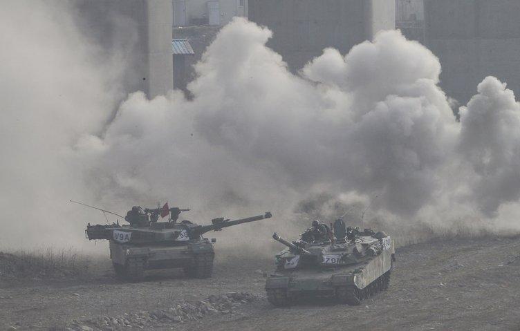 Kuzey Kore'ye böyle gözdağı verdiler