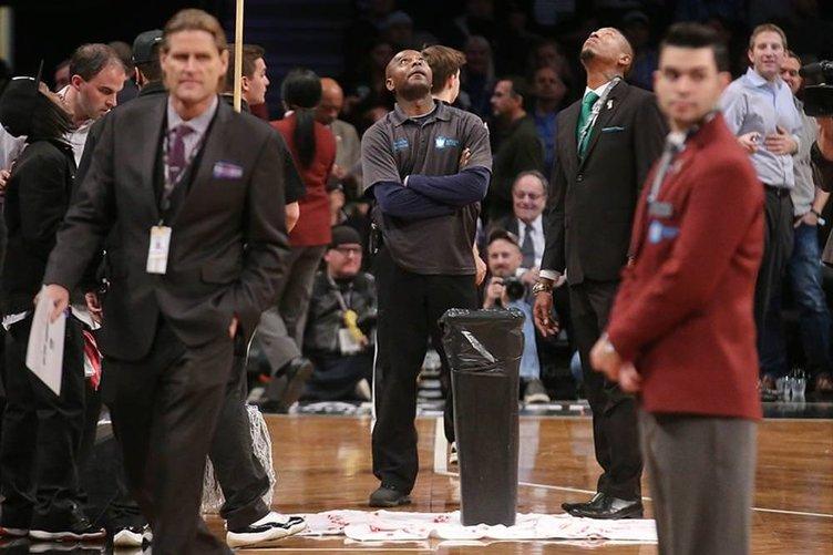 NBA maçına su molası