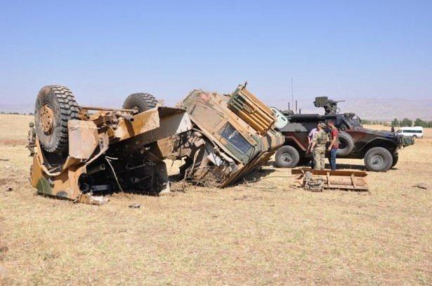 Muş'ta askeri araca saldırı