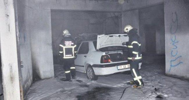 Kırıkkale'de araç yangını korkuttu