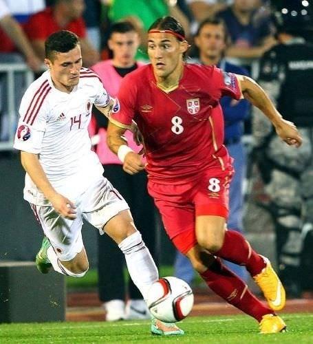 Sırbistan - Arnavutluk maçında olay