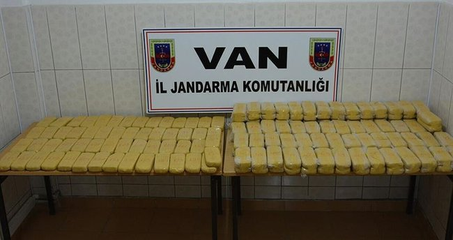Van'da 103 kilogram eroin ele geçirildi