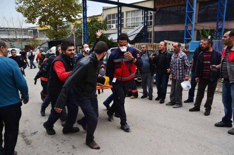 Ankara buz imalathanesinde patlama