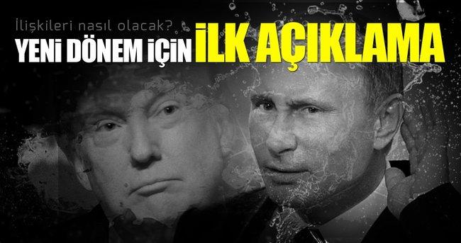 YENİ DÖNEM ABD-RUSYA İLİŞKİLERİ İÇİN İLK AÇIKLAMA