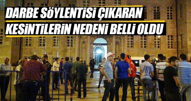 Konya'da 'darbe' söylentisi çıkaran kesintilerin sırrı çözüldü