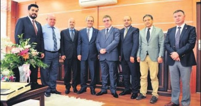 Mehmet Akarca'ya ilk ziyaret TGF'den