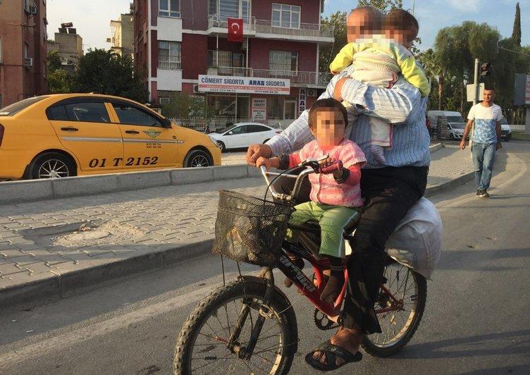 Adana'da tehlikeli yolculuk!