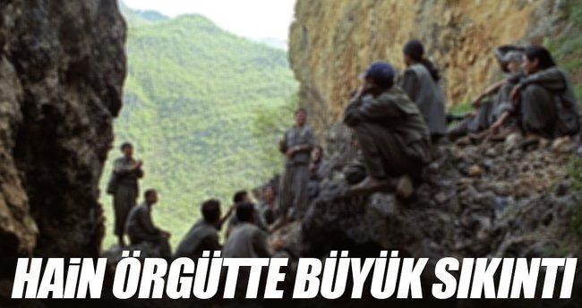 Terör örgütü PKK'da büyük sıkıntı