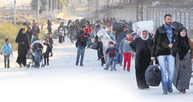 24 saatte 10 bin sivil kaçtı