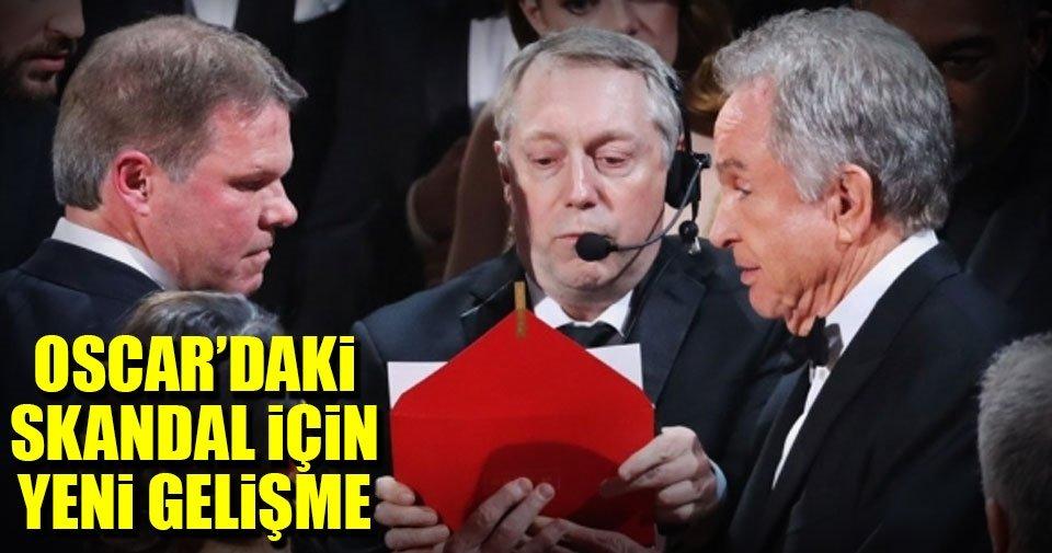 Oscar'daki skandal için yeni gelişme