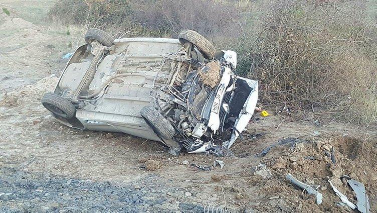Üniversiteli gençlerin otomobili takla attı: 2 ölü, 3 yaralı