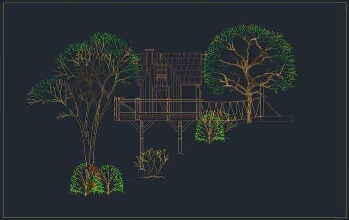 Çocuklarına öyle bir ağaç ev yaptı ki...