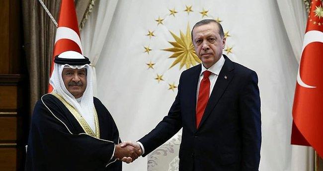 Erdoğan Bahreyn Başbakan yardımcısını kabul etti.