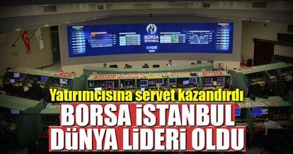 Borsa İstanbul ilk yarıyı lider bitiriyor
