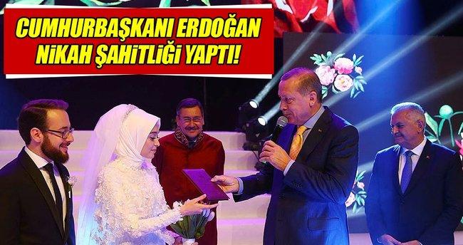 Cumhurbaşkanı Erdoğan nikah şahitliği yaptı!
