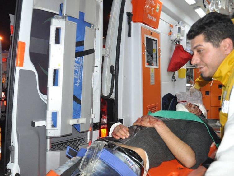 Kayseri'de yolcu otobüsü şarampole devrildi