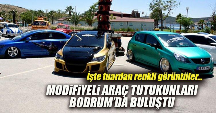Modifiye araç tutkunları Bodrum'da buluştu