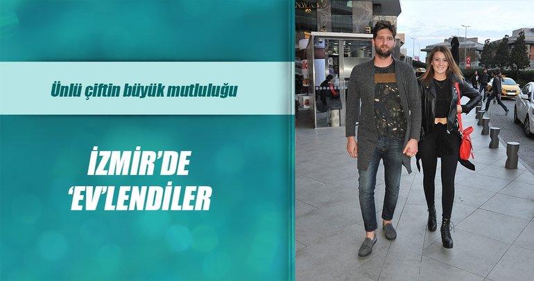 Gizem Karaca ile Kemal Ekmekçi İzmir'de 'ev'lendi