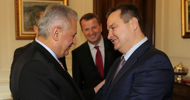 Başbakan Yıldırım İvica Dacic'i kabul etti
