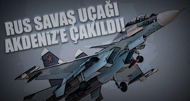 Rus savaş uçağı Akdeniz'e çakıldı