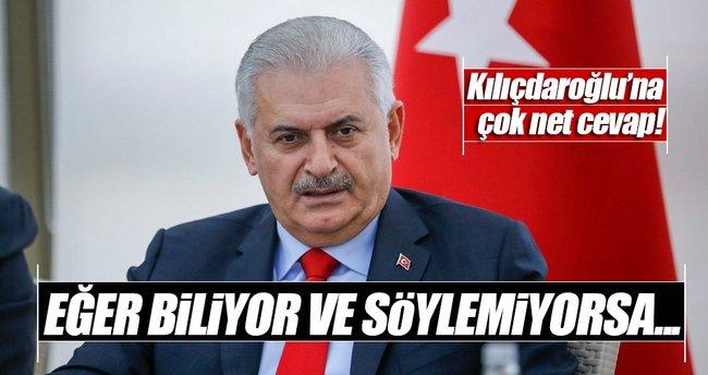 Başbakan Binali Yıldırım, Kılıçdaroğlu'na yanıt