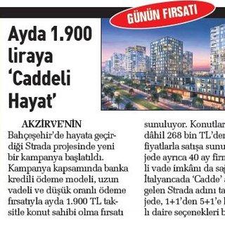 Ayda 1.900 liraya 'Caddeli Hayat'