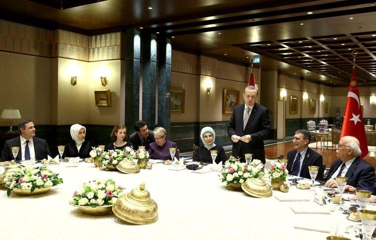 Erdoğan'dan Sancar onuruna akşam yemeği