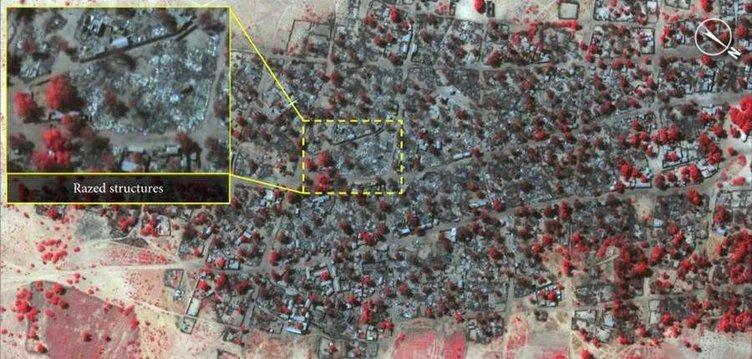 Boko Haram'ın köy katliamı uydu fotoğraflarında